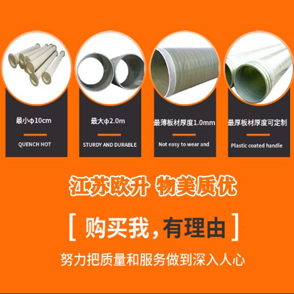 4mm厚有机玻璃钢风管价格